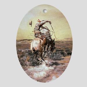 cowboy art Ornament (Oval)