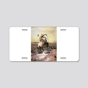 cowboy art Aluminum License Plate