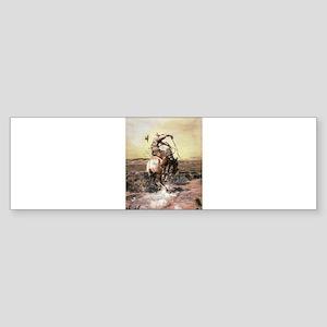 cowboy art Bumper Sticker