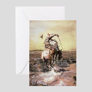 cowboy art Greeting Cards