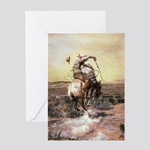 Cowboy greeting cards cafepress cowboy art greeting cards m4hsunfo