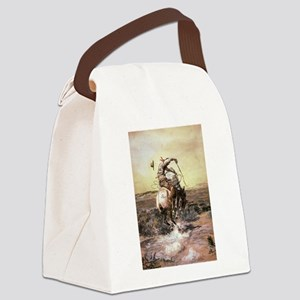 cowboy art Canvas Lunch Bag