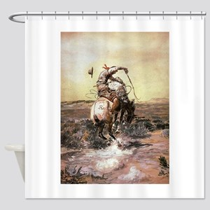 cowboy art Shower Curtain
