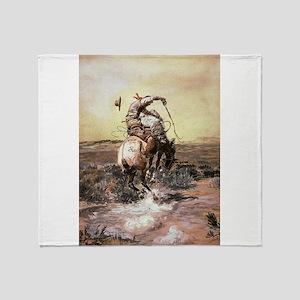 cowboy art Throw Blanket