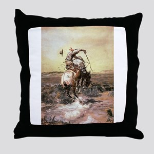 cowboy art Throw Pillow