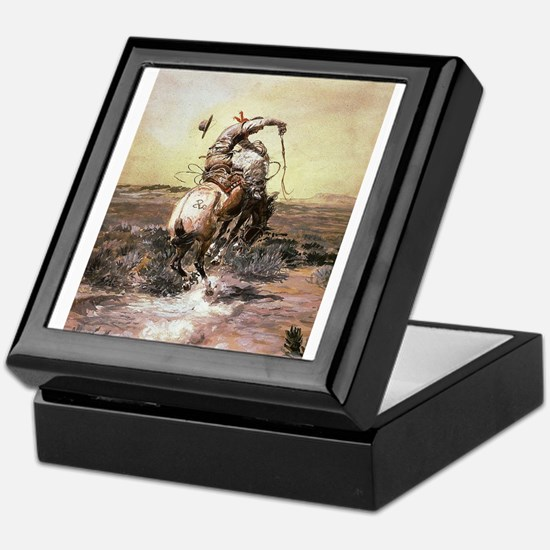 cowboy art Keepsake Box