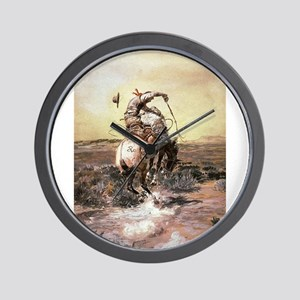 cowboy art Wall Clock