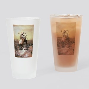 cowboy art Drinking Glass
