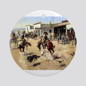 cowboy art Ornament (Round)