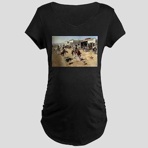 cowboy art Maternity T-Shirt