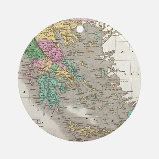 Vintage Map of Greece (1827) Round Ornament