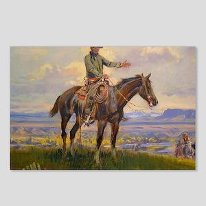 cowboy art Postcards (Package of 8)