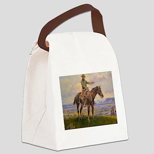 cowboy art Canvas Lunch Bag