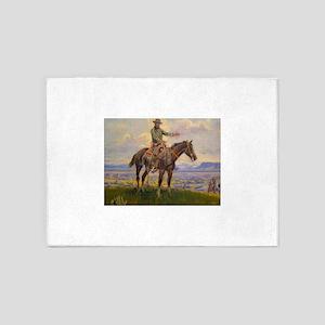 cowboy art 5'x7'Area Rug