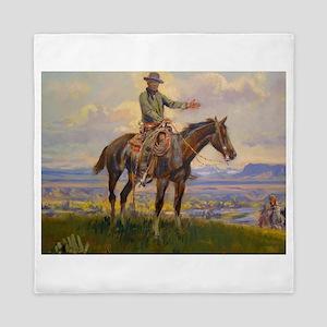 cowboy art Queen Duvet