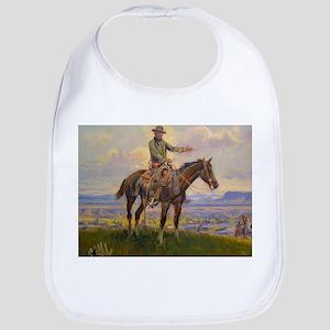 cowboy art Bib