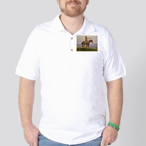 cowboy art Golf Shirt