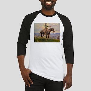 cowboy art Baseball Jersey