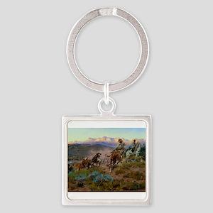 cowboy art Keychains