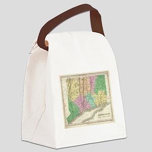 Vintage Map of Connecticut (1827) Canvas Lunch Bag