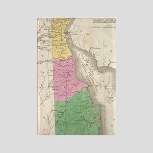 Vintage Map of Delaware (1827) Rectangle Magnet