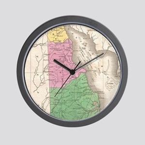 Vintage Map of Delaware (1827) Wall Clock