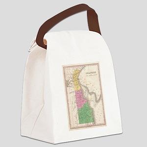 Vintage Map of Delaware (1827) Canvas Lunch Bag
