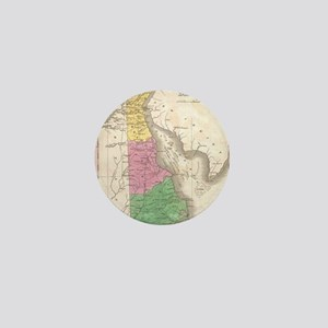 Vintage Map of Delaware (1827) Mini Button