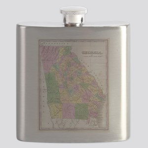 Vintage Map of Georgia (1827) Flask