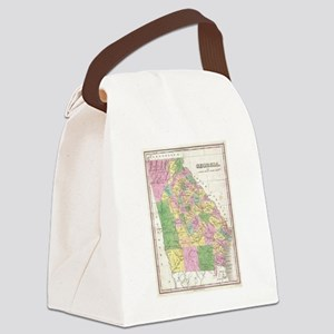 Vintage Map of Georgia (1827) Canvas Lunch Bag