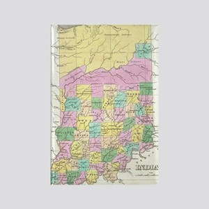 Vintage Map of Indiana (1827) Rectangle Magnet