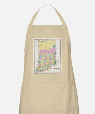 Vintage Map of Indiana (1827) Apron