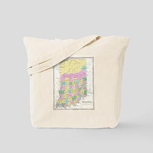 Vintage Map of Indiana (1827) Tote Bag