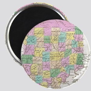 Vintage Map of Indiana (1827) Magnet