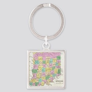 Vintage Map of Indiana (1827) Square Keychain
