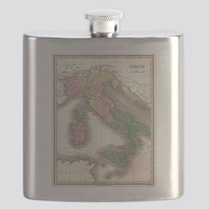 Vintage Map of Italy (1827) Flask