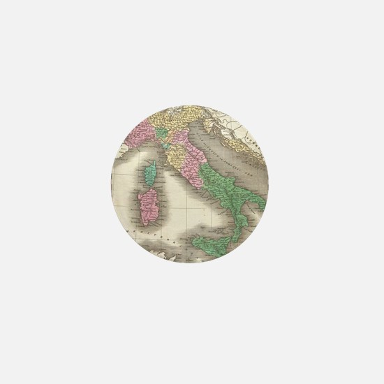 Vintage Map of Italy (1827) Mini Button