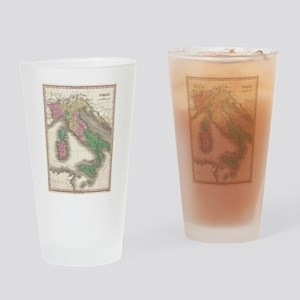 Vintage Map of Italy (1827) Drinking Glass