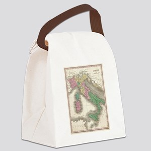 Vintage Map of Italy (1827) Canvas Lunch Bag