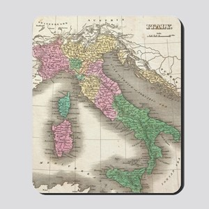 Vintage Map of Italy (1827) Mousepad