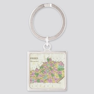 Vintage Map of Kentucky (1827) Square Keychain