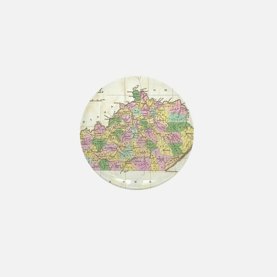 Vintage Map of Kentucky (1827) Mini Button
