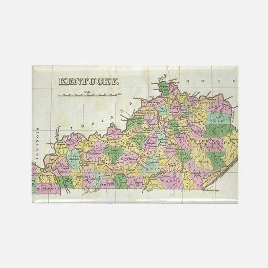 Vintage Map of Kentucky (1827) Rectangle Magnet