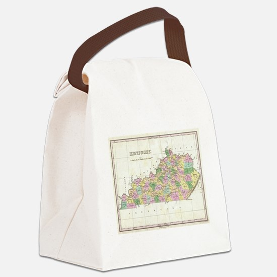 Vintage Map of Kentucky (1827) Canvas Lunch Bag