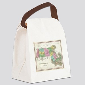 Vintage Map of Massachusetts (182 Canvas Lunch Bag