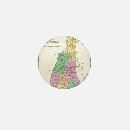 Vintage Map of New Hampshire (1827) Mini Button