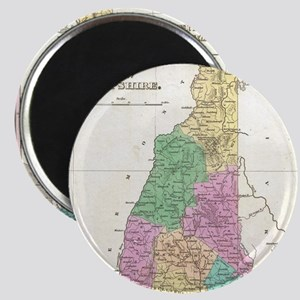 Vintage Map of New Hampshire (1827) Magnet