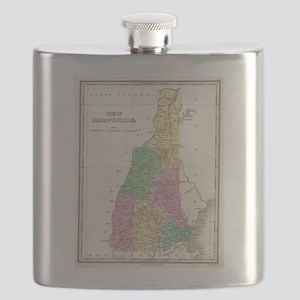 Vintage Map of New Hampshire (1827) Flask
