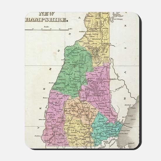 Vintage Map of New Hampshire (1827) Mousepad