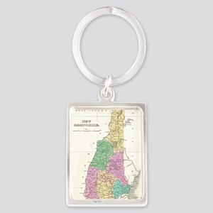 Vintage Map of New Hampshire (18 Portrait Keychain